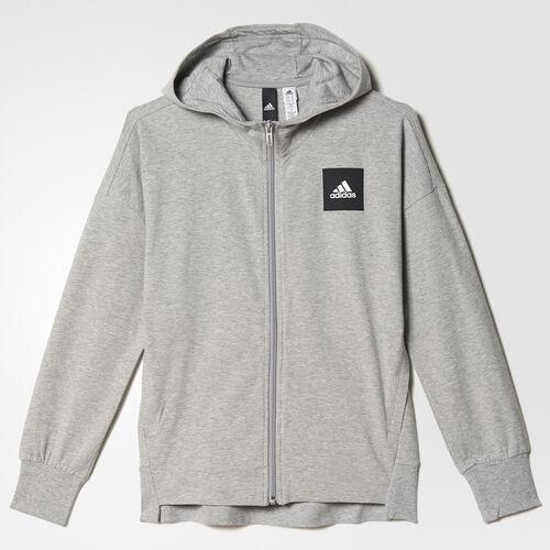 adidas - Sports ID Hoodie Medium Grey Heather/Mystery Blue BP8643