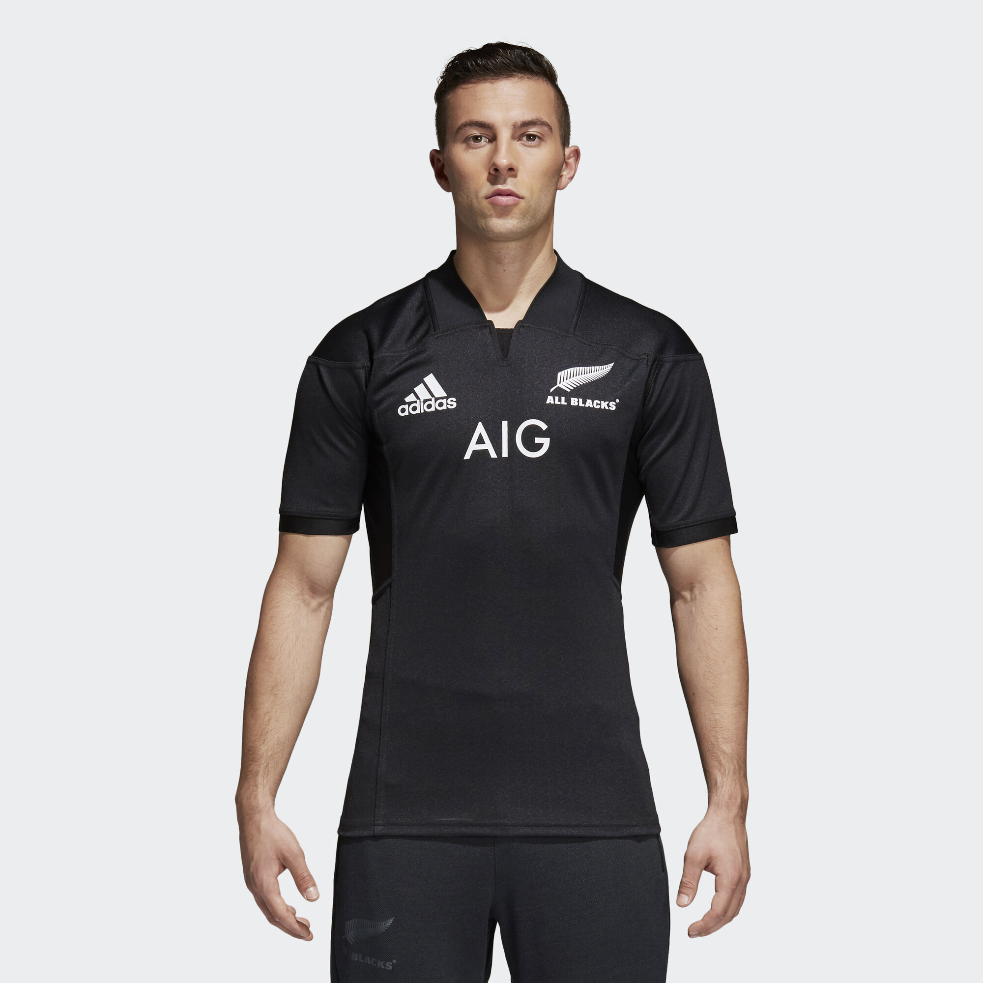 maillot all blacks domicile replica noir adidas adidas france. Black Bedroom Furniture Sets. Home Design Ideas