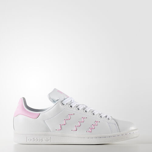 adidas - Stan Smith Shoes Footwear White/Footwear White/Wonder Pink BZ0401