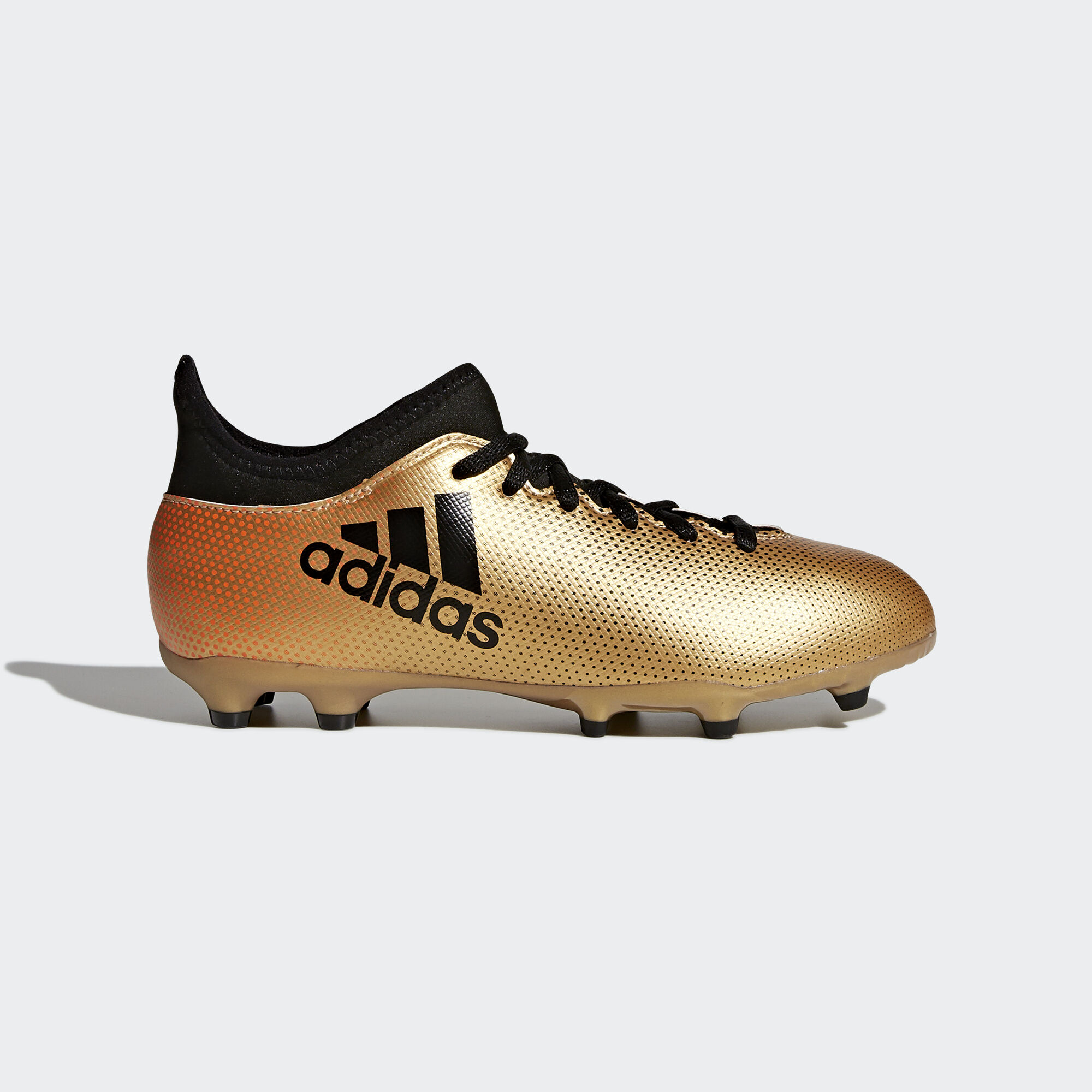 adidas - X 17.3 Firm Ground Boots Tactile Gold Met./Core Black/Solar. Kids  Football
