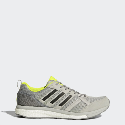 adidas - adizero Tempo 9 Shoes Grey Two /Core Black/Solar Yellow BA8237