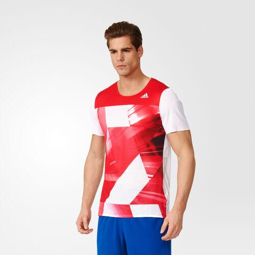 adidas - adizero Short Sleeve Tee M Ray Red/White S93581