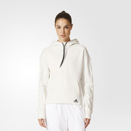adidas - Mélange Pullover Huvtröja Pepper White Mel. AX7537