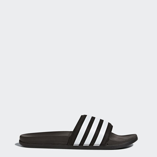 adidas - adilette Cloudfoam Plus Slides Core Black/Footwear White AQ4935