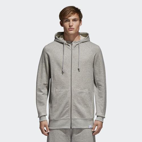 adidas - Bluza z kapturem XbyO Hoodie Medium Grey Heather BQ3090