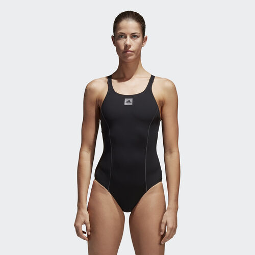 adidas - Solid Support Swimsuit Black/Utility Black BS0294