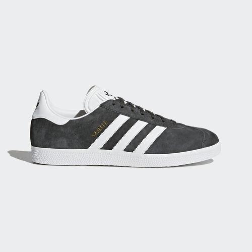 adidas - Gazelle Shoes Dark Grey Heather/White/Gold Metallic BB5480