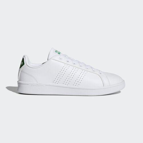 adidas - Cloudfoam Advantage Clean Shoes Footwear White/Green AW3914