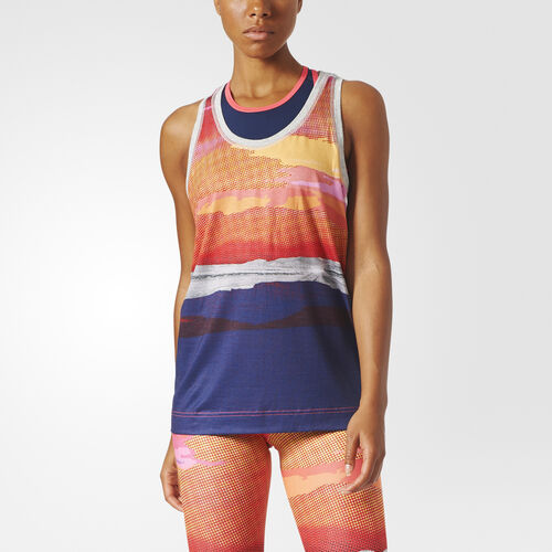adidas - adidas STELLASPORT Nature Tank Top Multicolor/Medium Grey Heather AZ7803