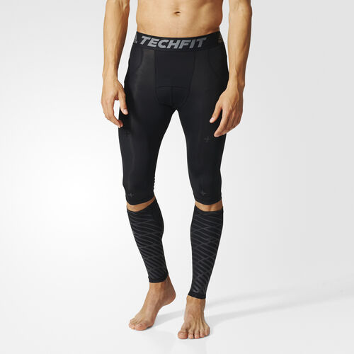 adidas - Techfit Recovery 3-in-1 Short Tights and Calf Warmers Black B45500