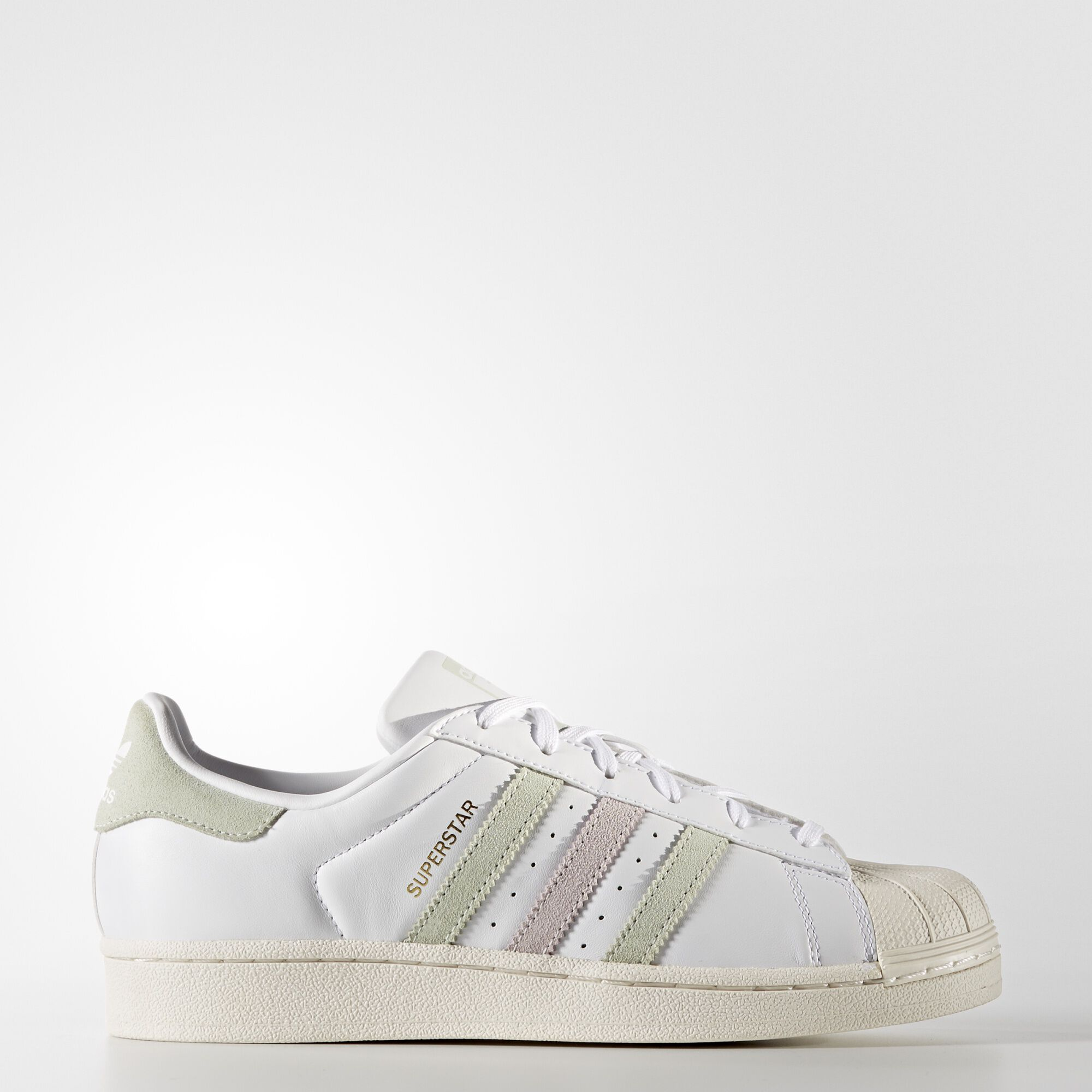 adidas for Kids: Superstar Foundation White & Black Sneakers