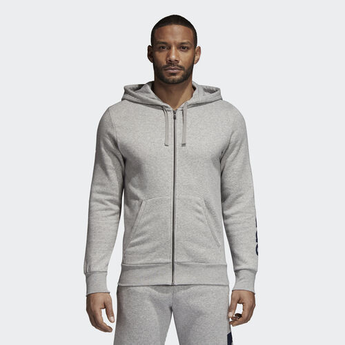 adidas - Essentials Hoodie Medium Grey Heather/Collegiate Navy BQ9636