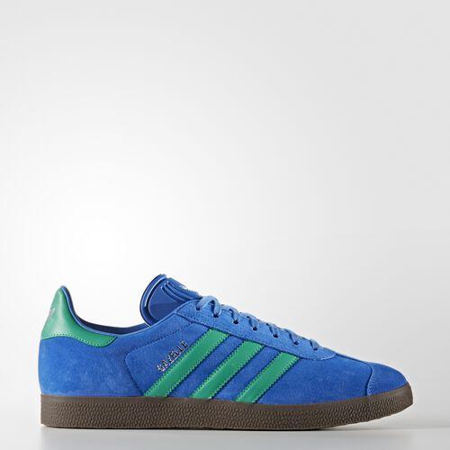 adidas - Gazelle Shoes Blue/Core Green/Gum BB2755