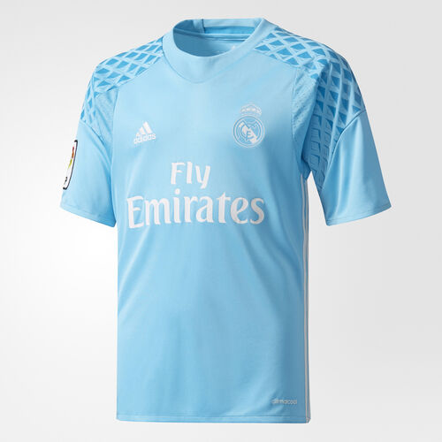 adidas - Real Madrid Home Replica Goalkeeper Jersey Bright Cyan/Crystal White AI5177