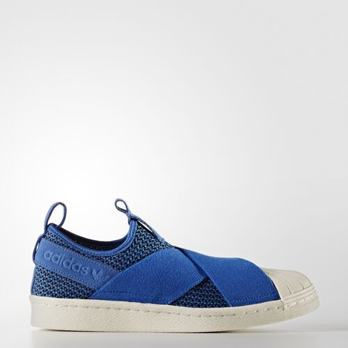 adidas - Superstar Slip-on Shoes Blue/Off White BB2120