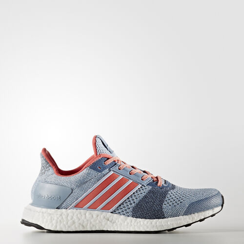 adidas - Ultra Boost ST Shoes Easy Blue/Haze Coral/Dark Grey Heather BA7835