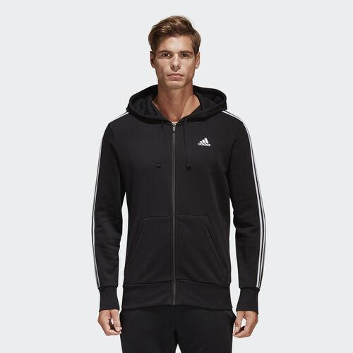 adidas - Casaco com Capuz com as 3 riscas Essentials Black/White S98786