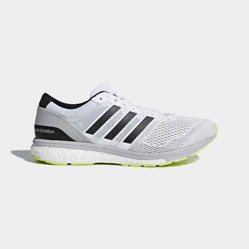 adidas - adizero Boston 6 Schoenen Footwear White/Silver Metalic/Solar Yellow CG3142
