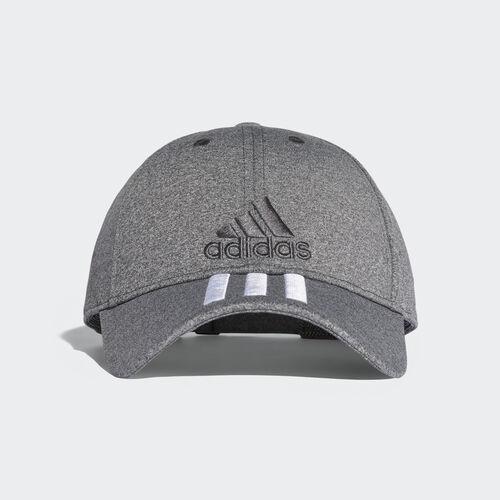 adidas - Classic 3-Stripes Cap Dark Grey Heather/White/Dark Grey Heather Solid Grey S98155