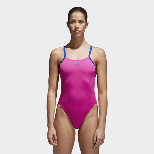 adidas - 3-Stripes Swimsuit Shock Pink /Collegiate Royal BP5300