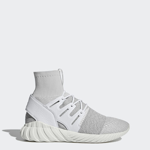 adidas - Zapatilla Tubular Doom Primeknit Footwear White/Footwear White/Clear Grey BY3553