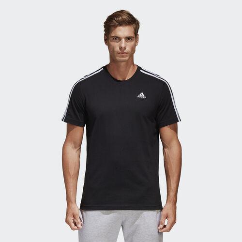 adidas - Essentials 3-Streifen T-Shirt Black S98717