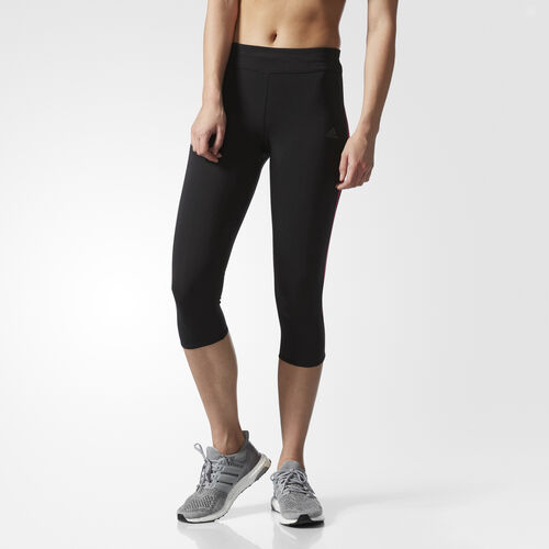 adidas - Response Three-Quarter Tights Black/Shock Pink BR2461