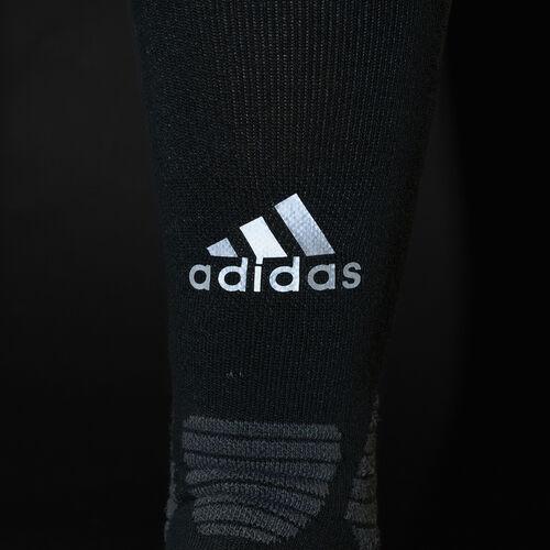 adidas - Running Energy Compression Socks 1 Pair Black/Dark Grey Heather/Reflective Silver S96283
