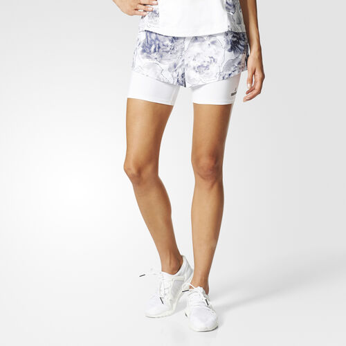 adidas - Run Floral Two-in-One Shorts White/Noble Ink/Cream White S99223