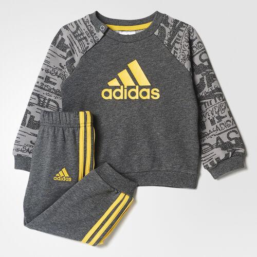 adidas - French Terry Jogger Set Dark Grey Heather/Eqt Yellow CE9633