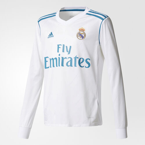 adidas - Real Madrid Home Replica Jersey White/Vivid Teal B31112