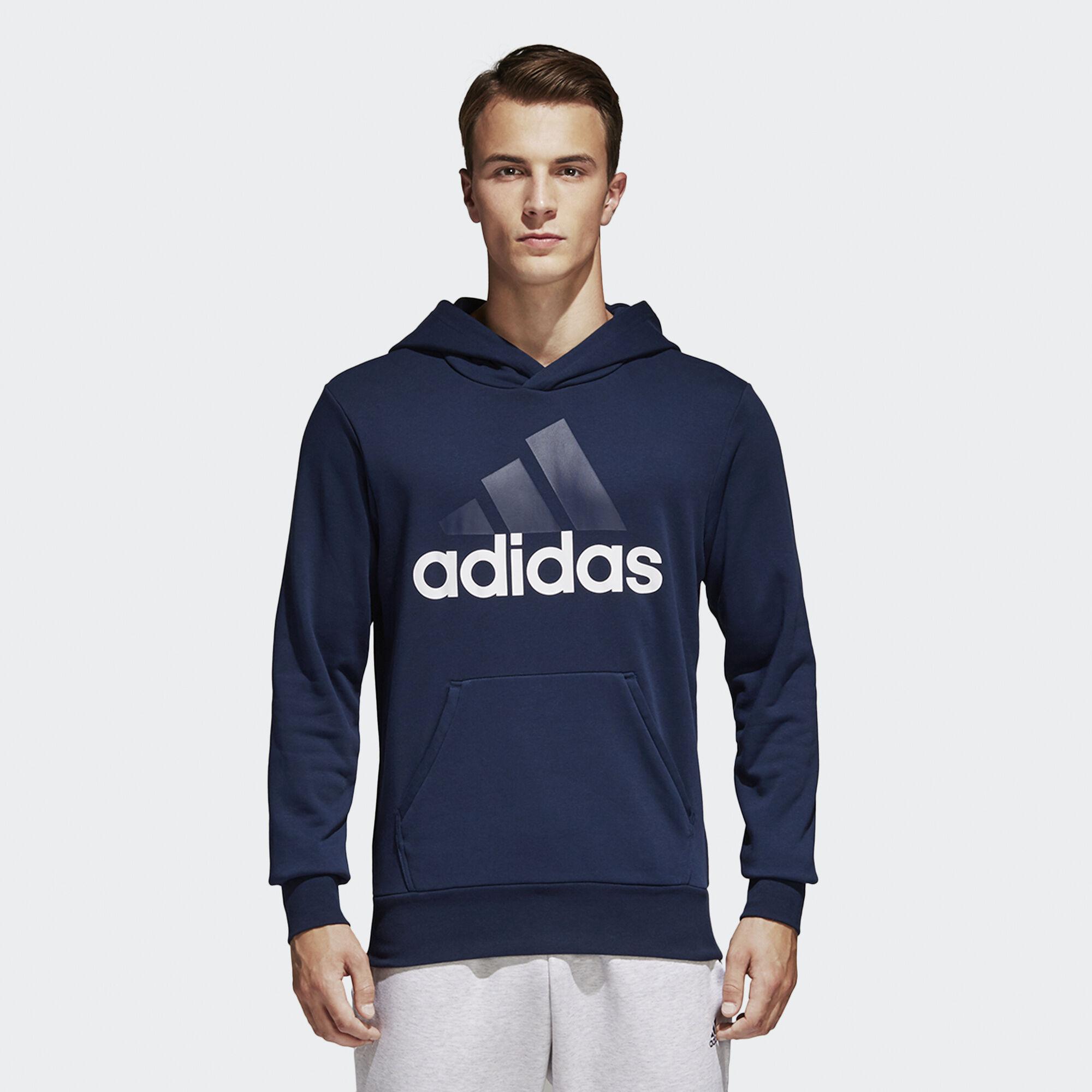 adidas - Essentials Linear Pullover Hoodie Collegiate Navy/White B45730