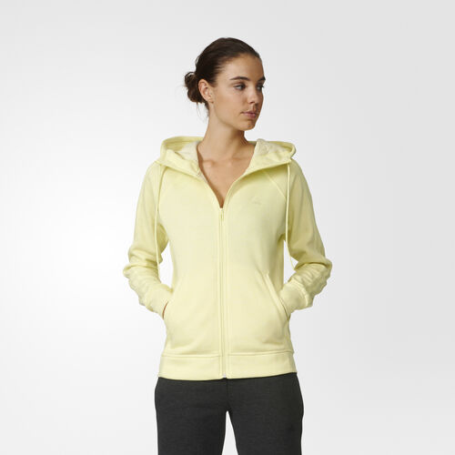 adidas - Essentials 3-Stripes Brushed Hoodie Ice Yellow Mel. AY4756