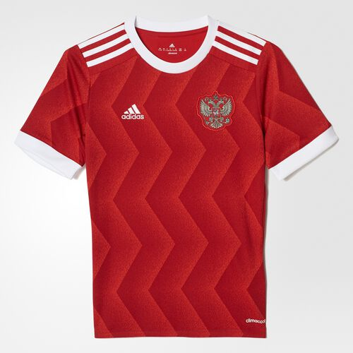 adidas - Russia Home Replica Jersey Scarlet/White BR6586