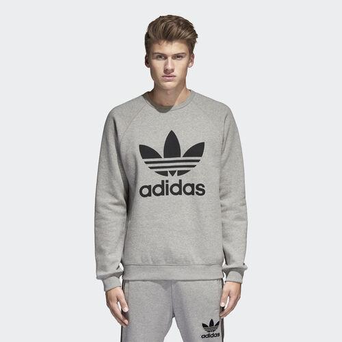 adidas - Trefoil Sweatshirt Medium Grey Heather/Black BK5866