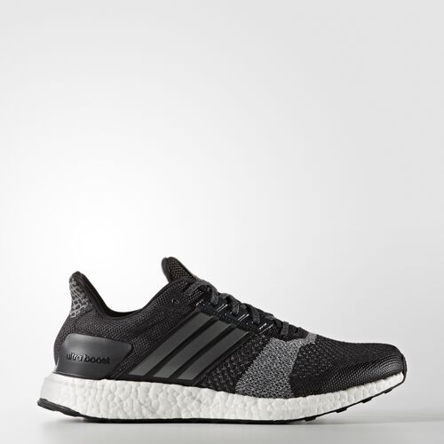 adidas - Ultra Boost ST Shoes Core Black/Iron Metallic/Dark Grey Heather Solid Grey BA7838