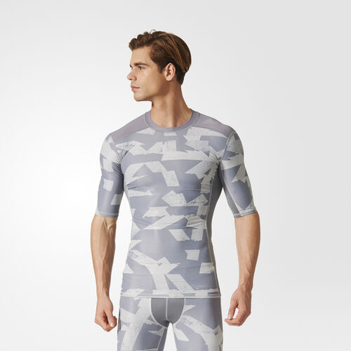 adidas - Camiseta Techfit Chill Print Grey/Print CD3644