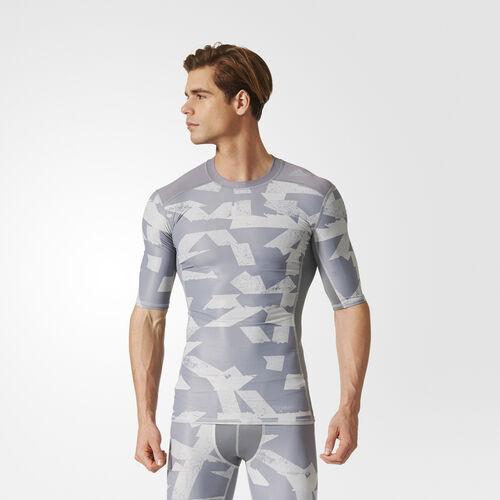 adidas - Techfit Chill Print T-shirt Grey/Print CD3644
