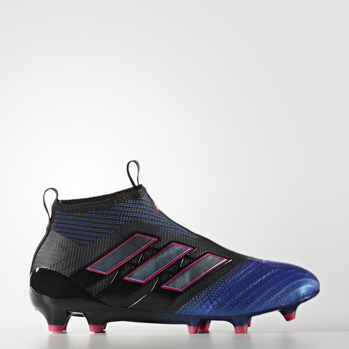 adidas - ACE 17+ Purecontrol Firm Ground Boots Core Black/Footwear White/Blue BA9819