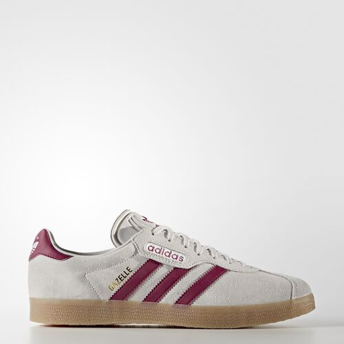 adidas - Gazelle Super Shoes Grey One /Mystery Ruby /Gold Metalic BY9777