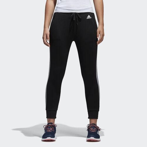 adidas - Essentials 3-Stripes Tapered Pants Black / White S97117