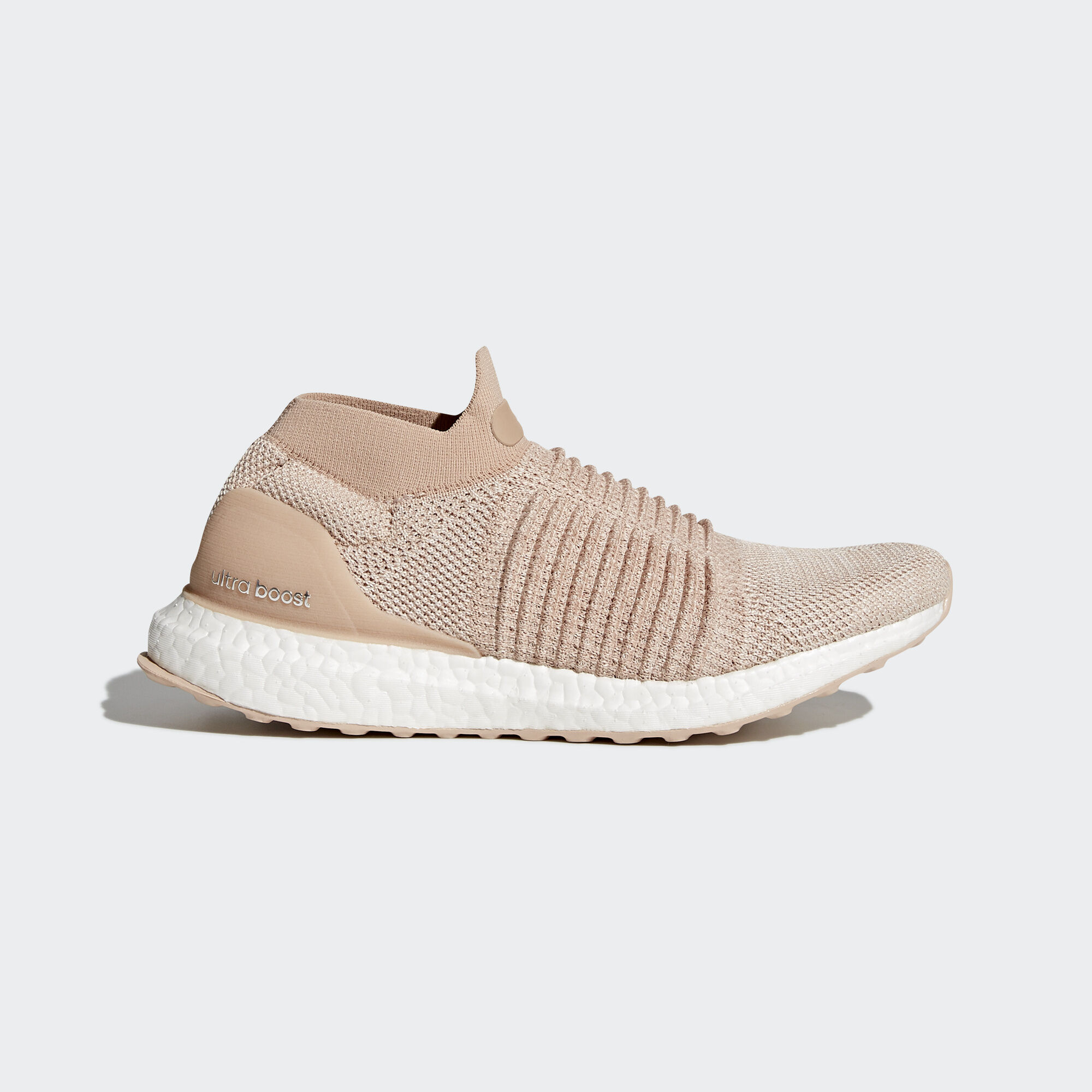 New Women's ADIDAS UltraBOOST LACELESS - CQ0010 - Pink Ash Pearl