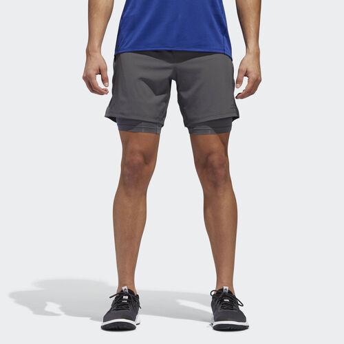 adidas - Supernova Dual Shorts Grey Five BQ7247