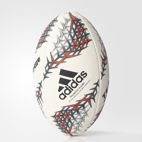 adidas - New Zealand Rugby Mini Ball White/Black/Shock Red AZ9517
