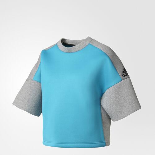 adidas - adidas Z.N.E. Sweatshirt Lab Green/Storm Heather/Medium Grey Heather B45502