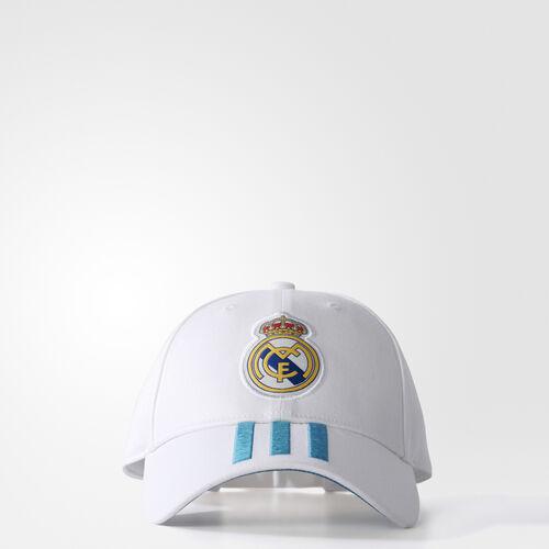 adidas - Real Madrid 3-Stripes Cap White/Vivid Teal BR7157