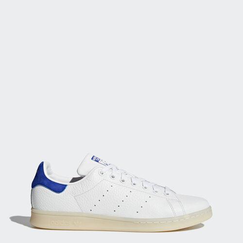 adidas - Stan Smith Shoes Footwear White/Footwear White/Bold Blue BZ0488