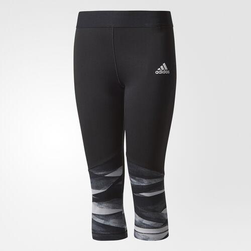 adidas - Three-Quarter Wrap Training Tights Grey Two /Black CD8928