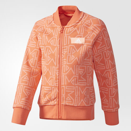 adidas - adigirl Track Jacket Easy Coral /Sun Glow /Easy Coral /Sun Glow CE9409