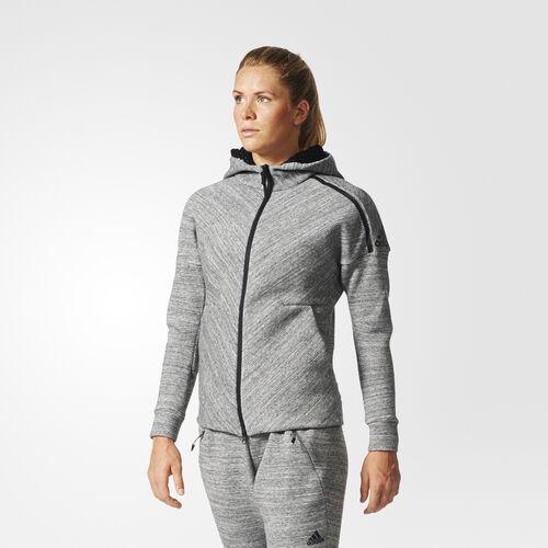adidas - Mikina skapucňou adidas Z.N.E. Travel Storm Heather/Medium Grey Heather B46931
